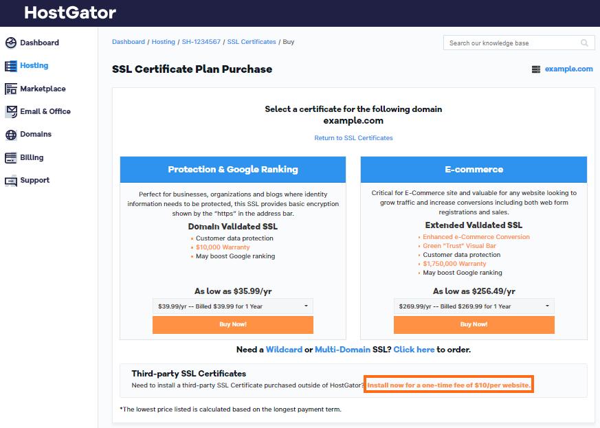 Install 3rd Party SSL