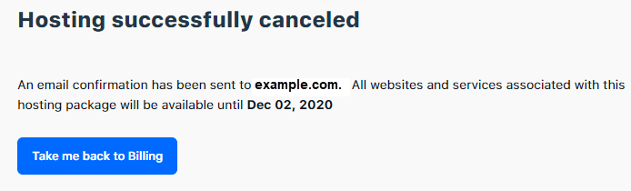 Cancel Package