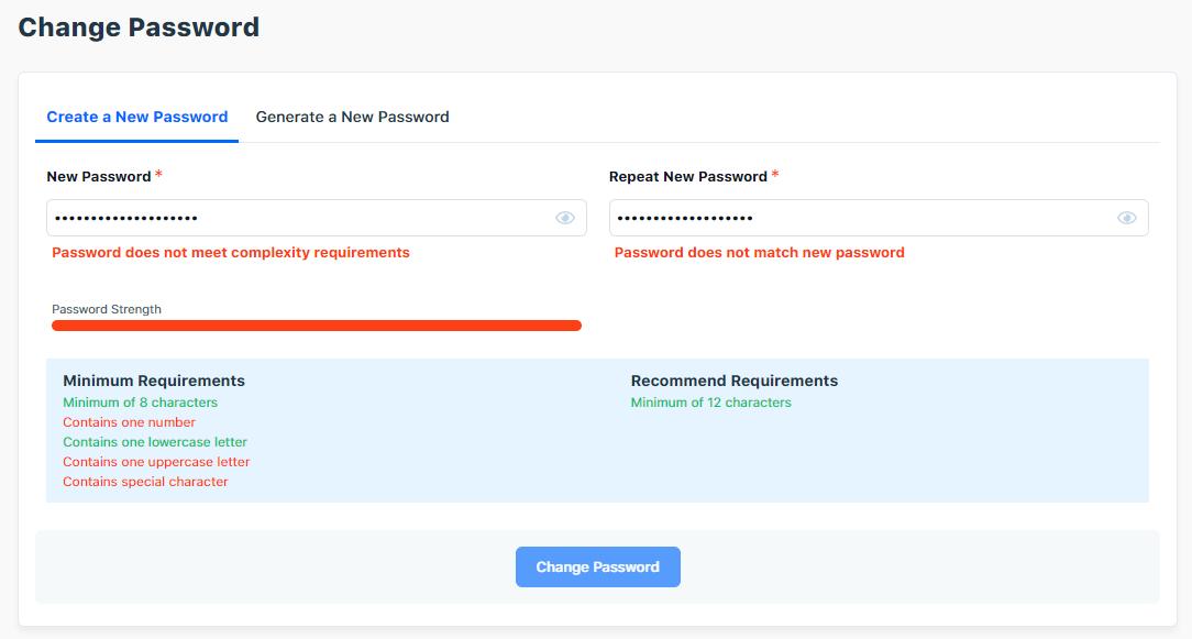 HostGator Password Reset Requirements
