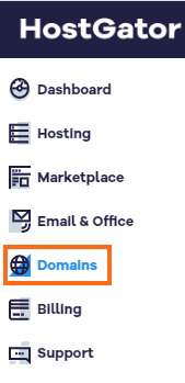 Customer Portal Domains Section