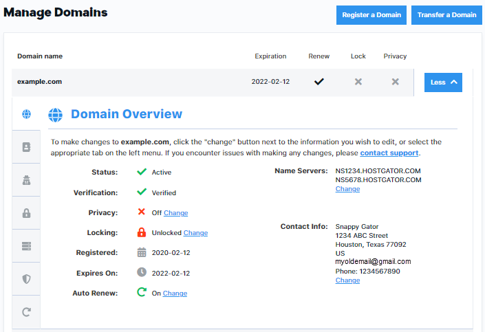 Domains Overview