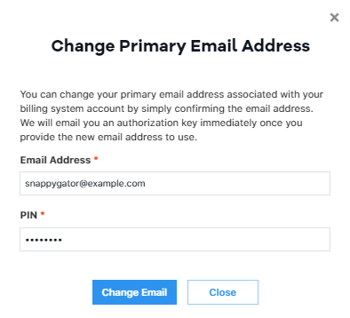Change Primary Email Address
