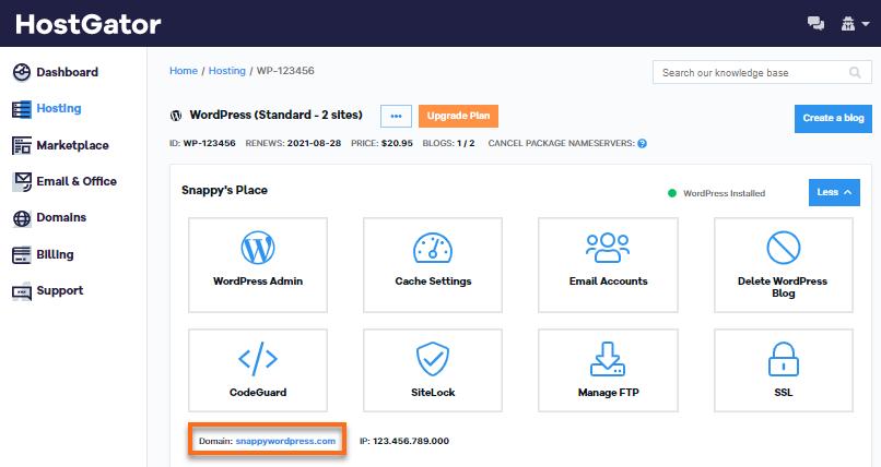 Customer Portal - OWP - Site Name