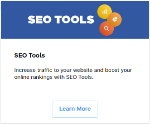 HostGator SEO Tools Card with Learn More Button