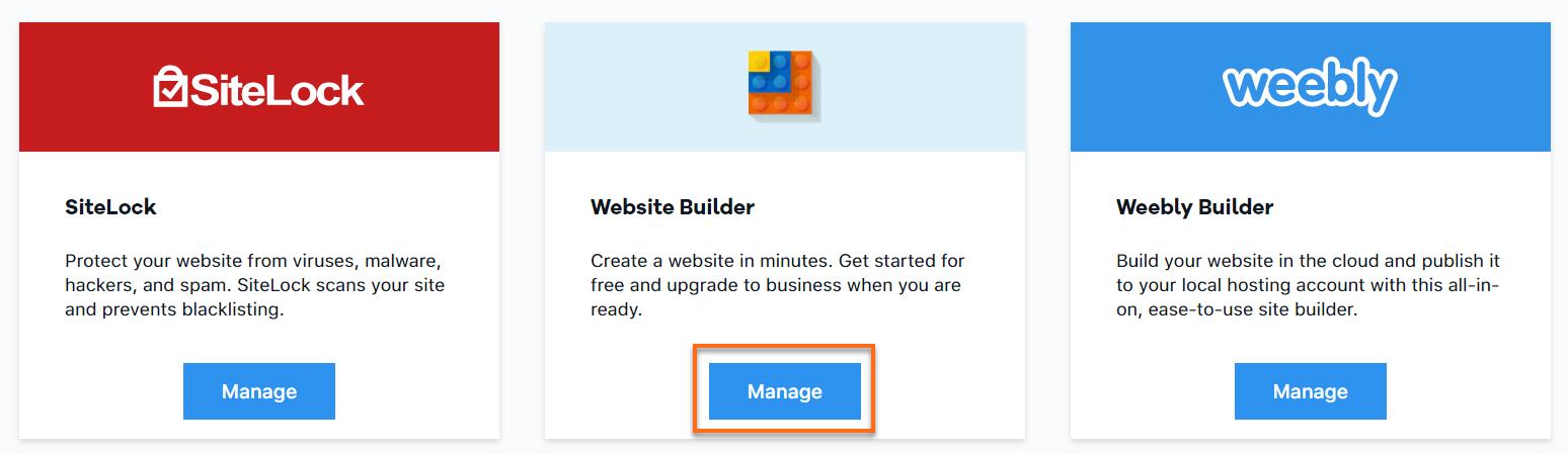 HostGator Manage Website Builder