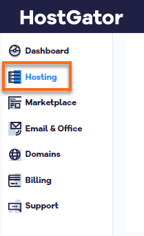 HostGator Billing Portal Side Panel