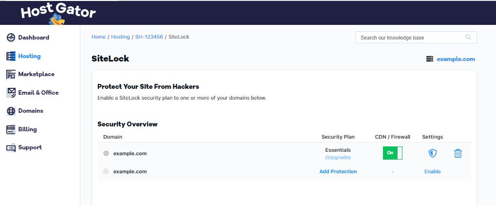 Billing Portal Sitelock Overview