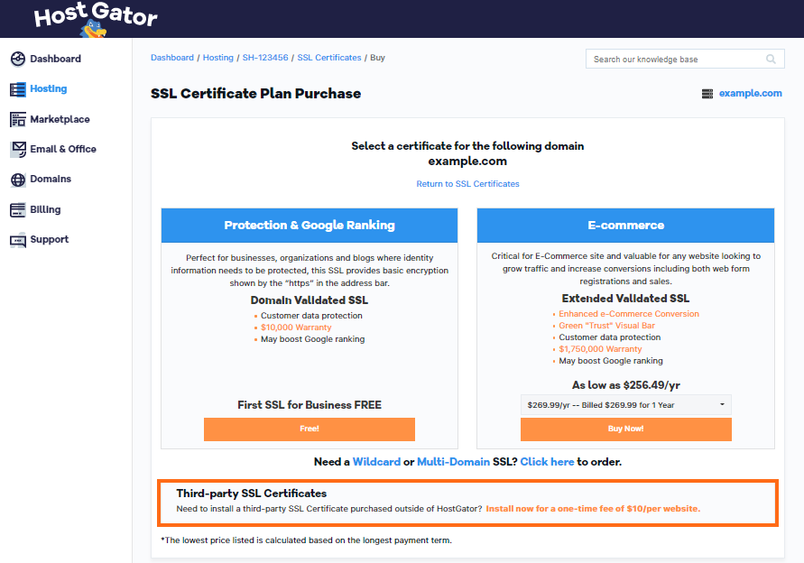 How do i use the third party ssl certificate i purchased provide 1betcityfo Gallery