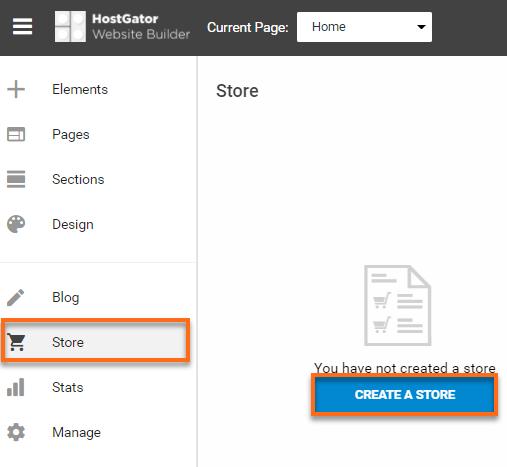 Website Builder - Create New Store