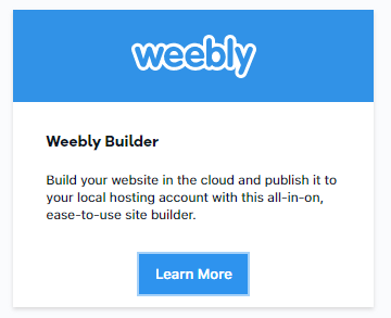 add weebly