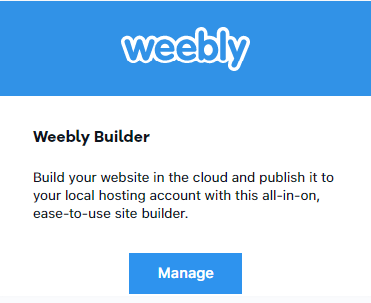 manage weebly