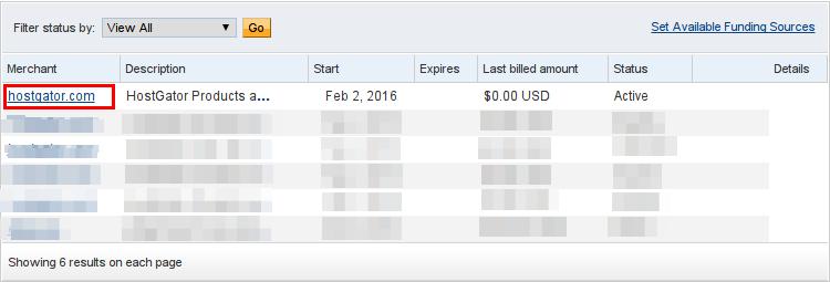 Billing Portal PayPal Billing Agreements HostGator