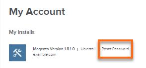 Magento password link