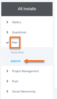 QuickInstall Mail Dropdown
