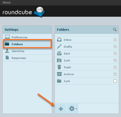 Roundcube add folder