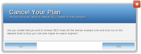 SEO Gears - Cancel Your Plan