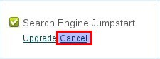 cancel link
