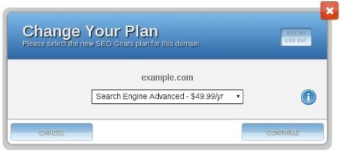 SEO Gears - Change Your Plan