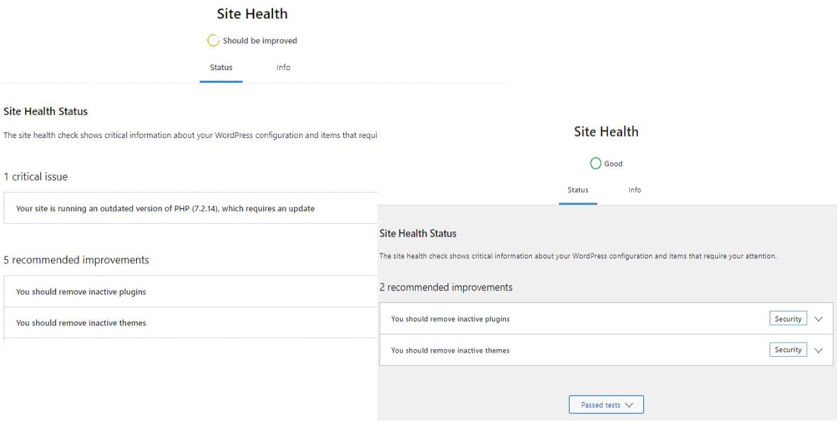 Site Health Tool