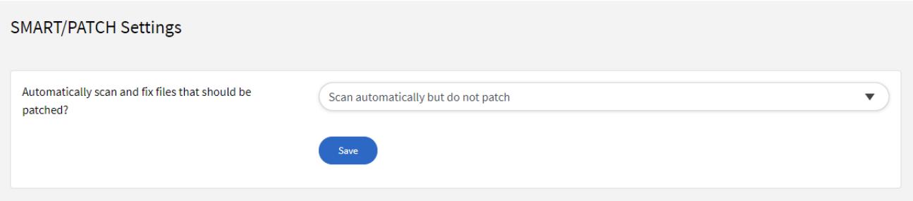 SMART/PATCH Settings - Default