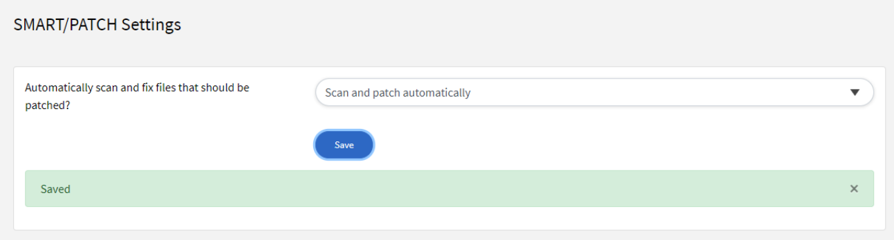 SMART/PATCH Settings - Scan Automatically