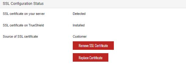 SiteLock Dashboard - Configuration Settings