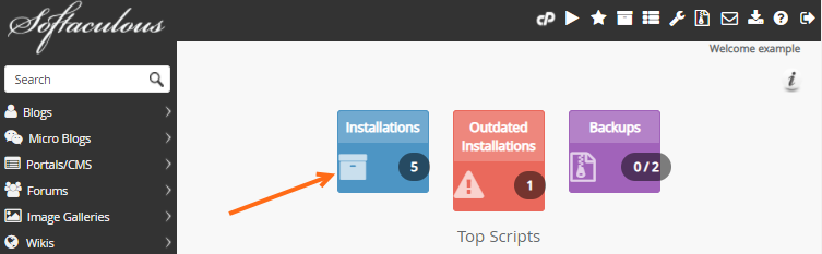 cPanel - Softaculous - Installations