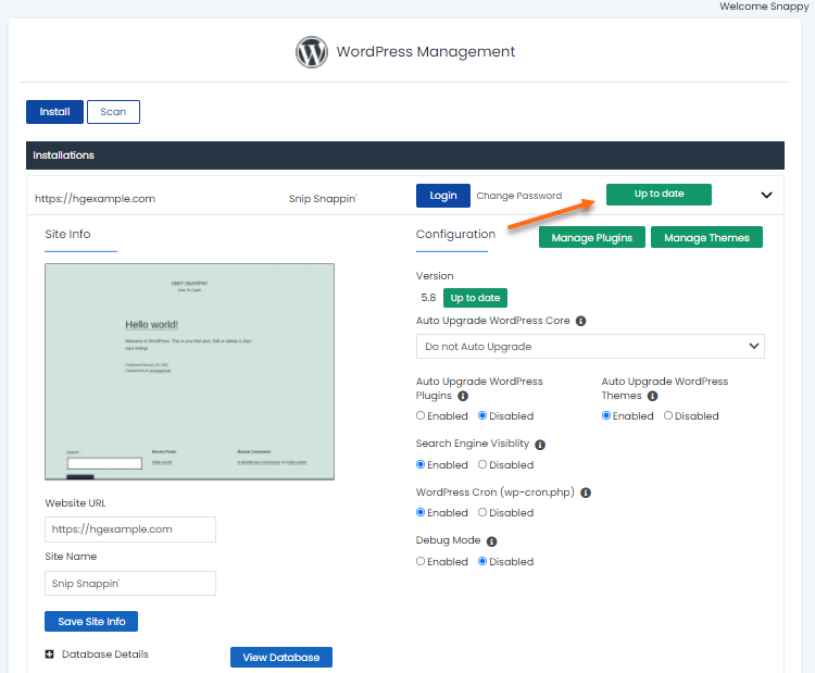 WordPress Manager - Up-tp-date Version