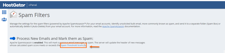 Spam Threshold Link