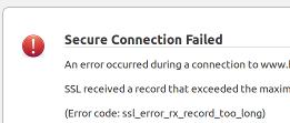 Secure Connection Failed