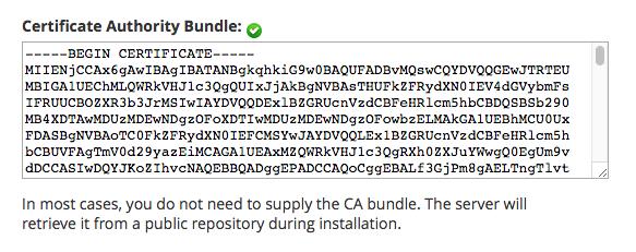 Enter CA Bundle