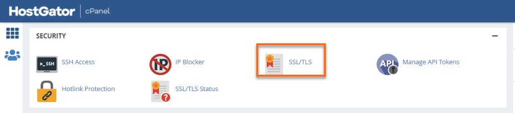 HostGator cPanel SSL/ TLS
