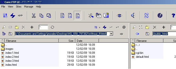 ftp folders