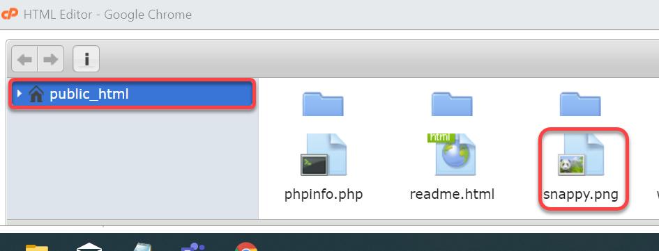 File Manger - Upload Image
