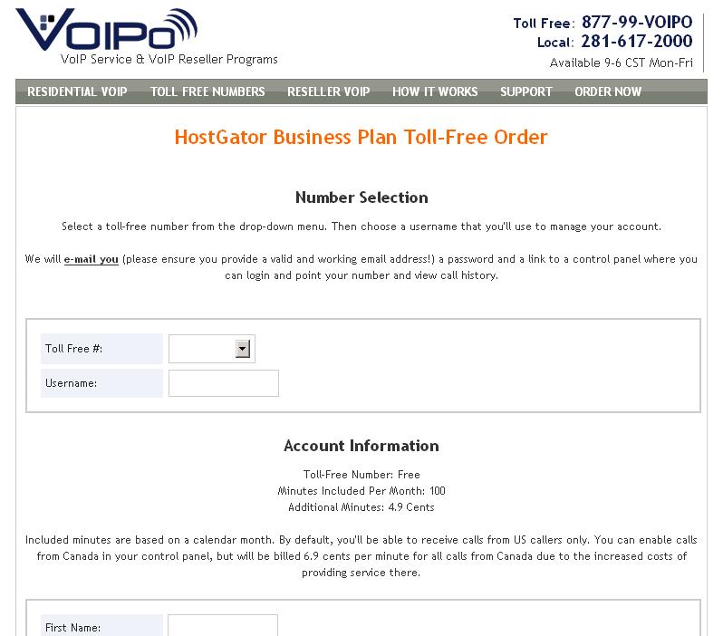 Business plan hostgator control