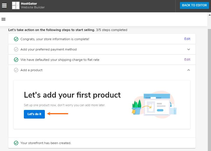 Website Builder - Add Product