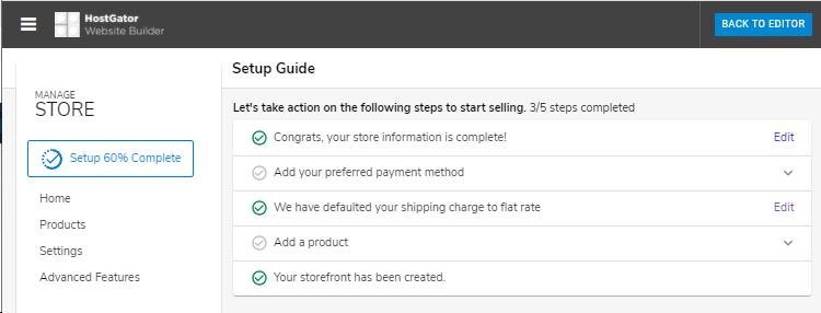 Website Builder - Completion Status