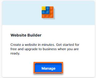 HostGator Customer Portal Website Builder Card