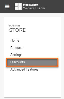 Hostgator website builder create new discount