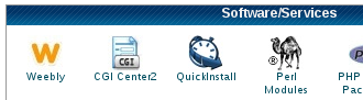 Weebly icon in cPanel