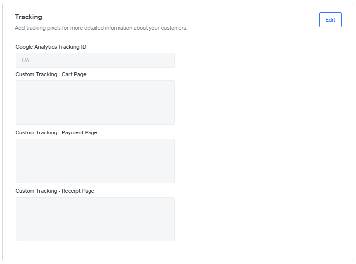 Weebly - Tracking
