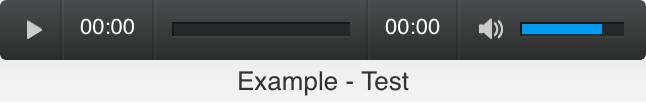 The audio player controls in Weebly