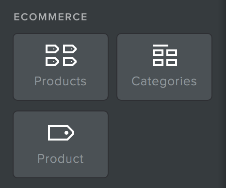 Weebly - E-commce Icons