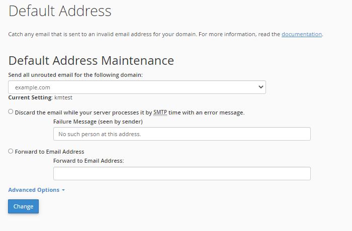 Settings for Default Address