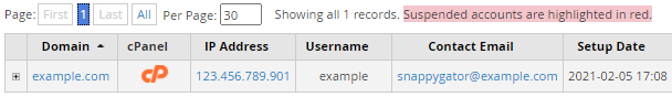 Reseller's cPanel icon