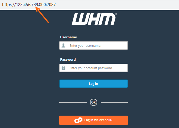 WHM via IP Address