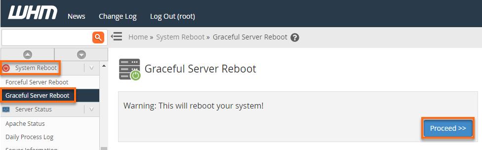 WHM New Reboot