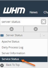 WHM Service Status
