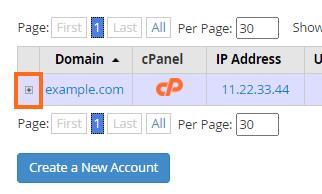 expand account details
