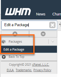 Edit a package